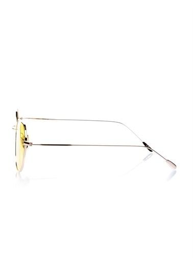 Optoline Opc 17050 06 Oval  Gövde Polarize Cam Kadın Güneş Gözlüğü Sarı